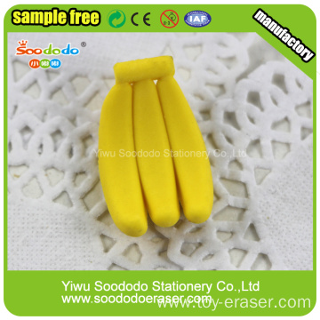 hot sell banana erasers stationery eraser seller
