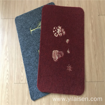 Outdoor used embroidery mats with PVC backing