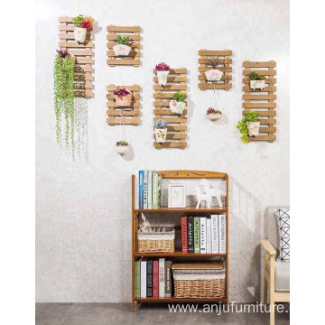Wooden Indoor Outdoor Garden Planter Flower Pots Stand Wall Hanging Shelves