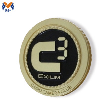 Renewable Design for Button Badge,Custom Button Badges,Button Badge Printing Manufacturers and Suppliers in China Gold color custom round club badge pin supply to Ethiopia Suppliers