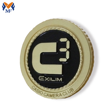 Original Factory for Button Badge,Custom Button Badges,Button Badge Printing Manufacturers and Suppliers in China Gold color custom round club badge pin export to Sao Tome and Principe Suppliers