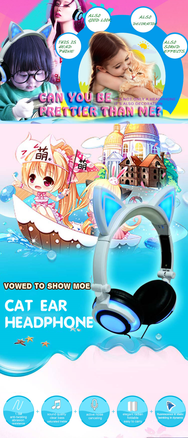 headphone cat