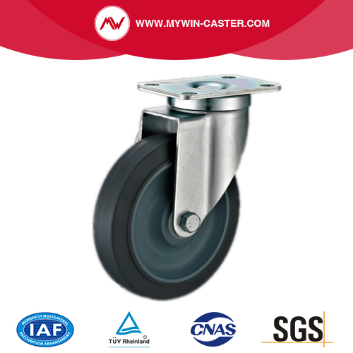 Plate TPR Wheel Swivel Industrial Caster