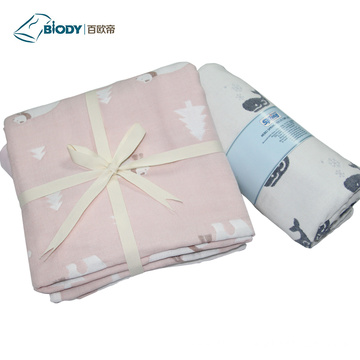 Cheap Receiving Muslin No Fluorescence Fabric Baby Blanket