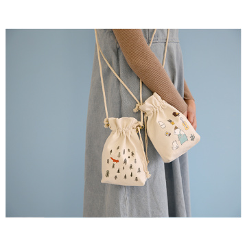 Oblique cross - zero mini - string bag