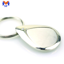 Good Quality for Custom Logo Keychains Blank metal personalized silver keychain tag export to French Southern Territories Suppliers