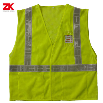 Mesh High visible reflective security jacket