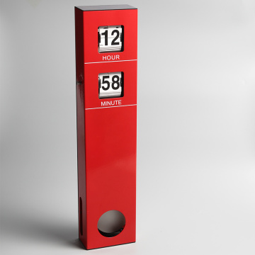 Red Long Pendulum Hanging Flip Clock
