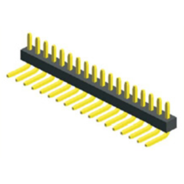 OEM/ODM for 1.27Mm Male Header Pins 1.27mm Pitch Single Row Angle supply to Colombia Exporter