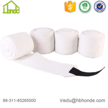 Soft White Polar Fleece Horse Bandage