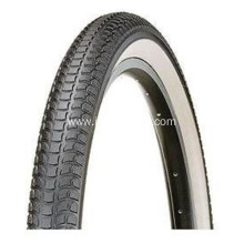 Black Rubber Bike Tire with Kinds Flowers