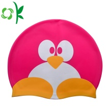 Cute Silicone Swim Penguin Shape Swim Cap Waterproof