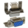 D-SUB High Density Female Machine Pin 9.4mm Footprint