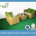 Round Ratttan Color Optional Sofa with Coffee Table