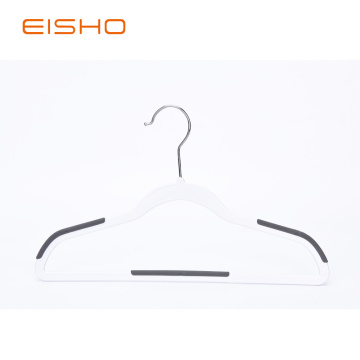 Non Slip Plastic Suit Hangers With Rubber Pieces