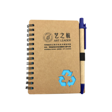 Recyclable Spiral Paper Notebook with ECO Pen