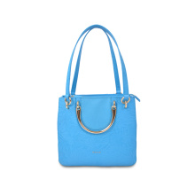 Lady Popular Leather Tote Bag With Large Pockets