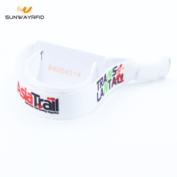 MIFARE Plus S Woven RFID Wristbands for payment