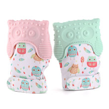 Free sample for Baby Teething Mitten Owl Silicone Baby Teething Mitten supply to France Factories