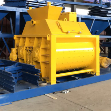 Horizontal electric gravity type concrete mixer