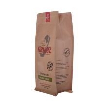 Flat Bottom Eco Paper Compostable Coffee Bag