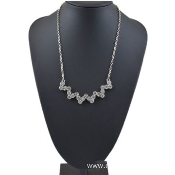 Reliable for Crystal Pendant Handmade Silver And Gold Plated Alloy Rhinestone Necklace supply to Marshall Islands Factory
