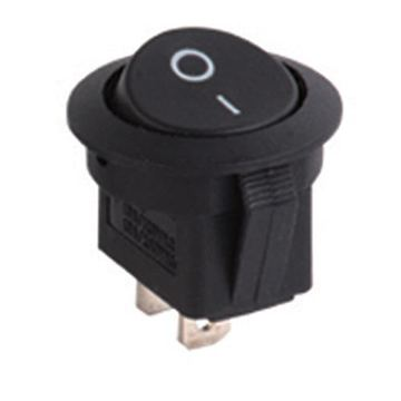 Round Rocker Switch w/blue led 12V