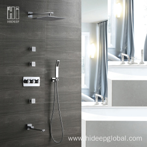 factory low price for Shower Mixer Faucet HIDEEP Fwo Function Brass Shower Faucet Set supply to Netherlands Exporter