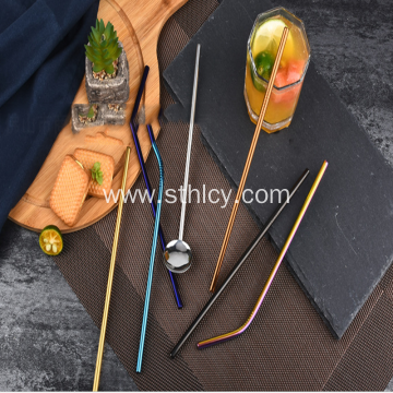 Titanium-plated Stainless Steel Drink Straw