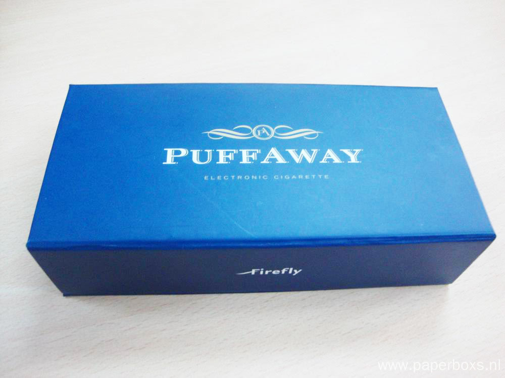 Blue Magnetic Paper Box With Spot UV