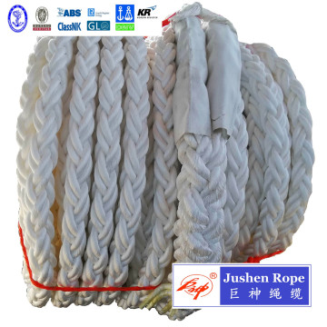 8-Strand Braided Polypropylene Filament Mooring Rope