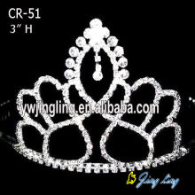 Crystal 3 Inch Rhinestone Crowns
