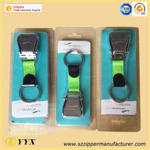 China supplier OEM for Custom Rubber Keychains, Rubber Keyrings from Leading Manufacturer Blister package airline buckle seat belt keychain export to United States Manufacturer