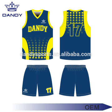 Bi hejmarên bi Jerseys Basketball Reversible Custom