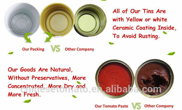 tomato paste tin packing