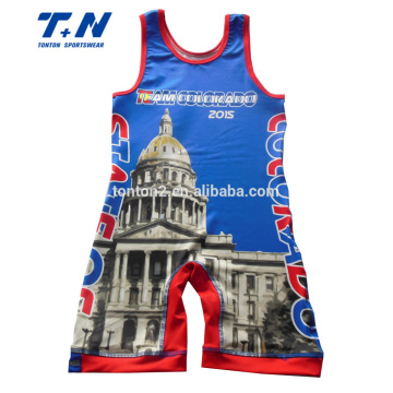 20 Years manufacturer for Men Wrestling Singlet 3D Digital Sublimation Print Compression Wrestling Singlets export to Sudan Factories