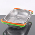 Stainless Steel Rice Washing Sieve With Plastic Handle