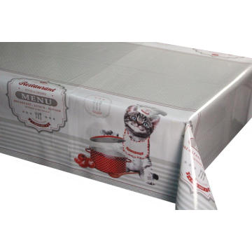 Pvc Printed fitted table covers Linen
