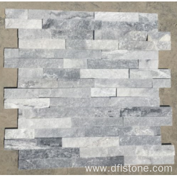 Ice gray interlock flagstone panel