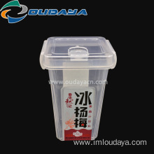 Hot sale 11oz plastic square drink PP for juice
