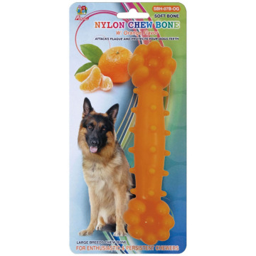 "Percell 7.5"" Nylon Dog Chew Bone Orange Scent"
