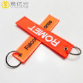 custom 3D logo airplane flight embroidered keychain