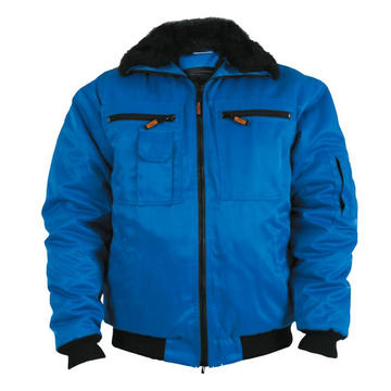 Blue with black Interweaving Winter Jacket