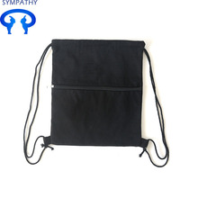 Wholesale Price China for Cotton Fabric Bag Drawstring Custom canvas zipper bag with pure pocket export to Vatican City State (Holy See) Manufacturer