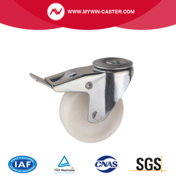 Braked Bolt Hole Swivel PP Industrial Caster