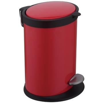 12L RED Stainless Steel Pedal bin