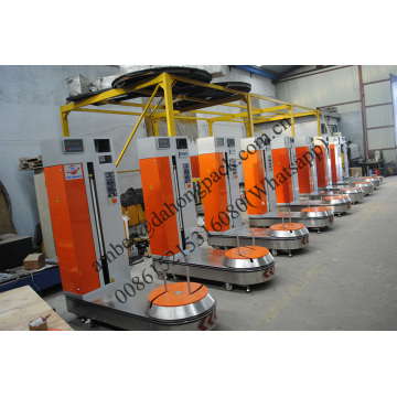 Automatic baggage wrapping machine