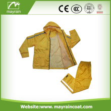190T Polyester Outdoor Rain Jacket With Pants