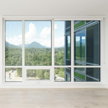 Lingyin Construction Materials Ltd China supplier high quality sliding door large glass aluminum sliding window