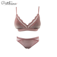 Online Exporter for Lace Bra Set Sexy velvet lingerie set lace bra and panties supply to Portugal Wholesale
